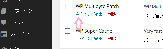 WP Multibyte Patchを有効