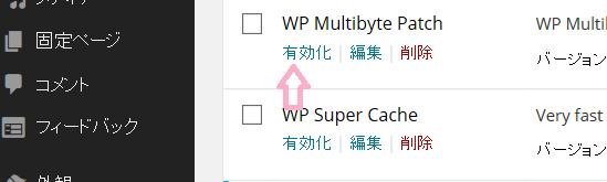 WP Multibyte Patchを有効