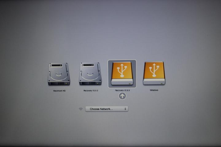 復元ディスクの起動方法