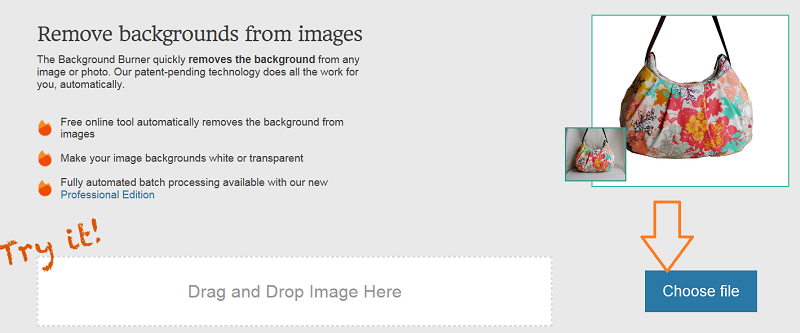 オークションの背景透明化に便利なツール「Background burner」の使い方