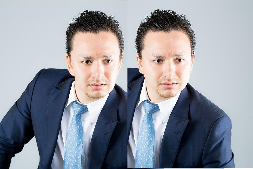フリー画像編集ソフトGIMPの「対話的歪め」を使用 画像を並べて比べる