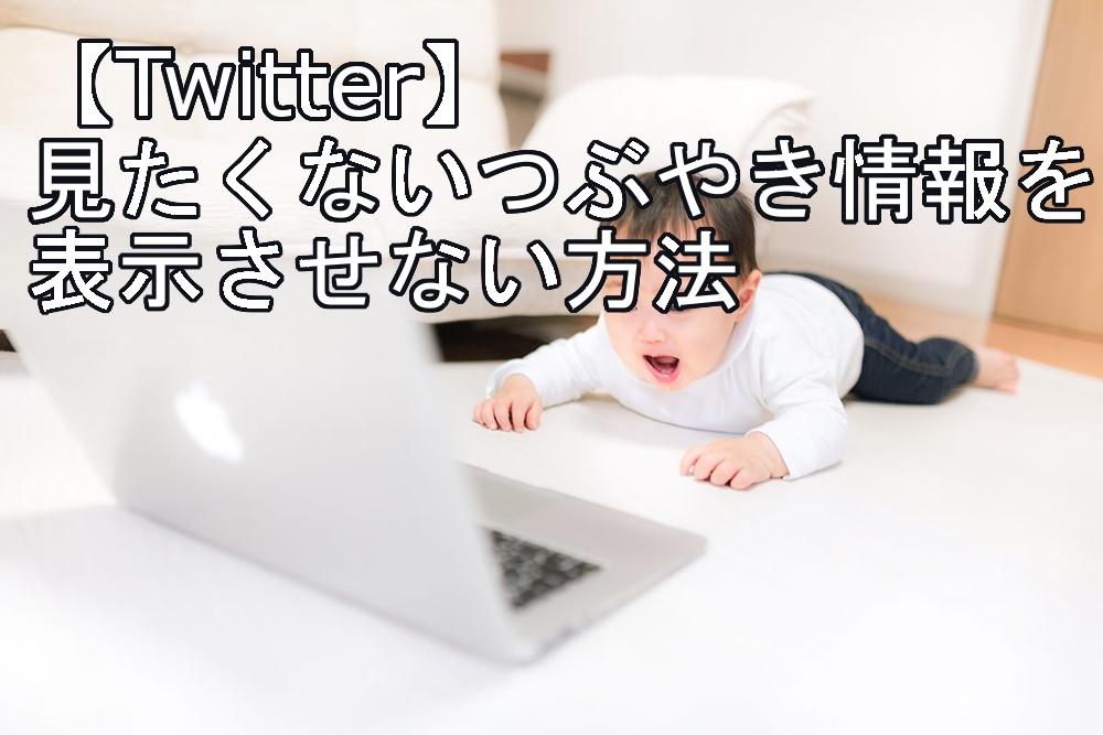 【Twitter 】見たくないつぶやき情報を表示させない方法