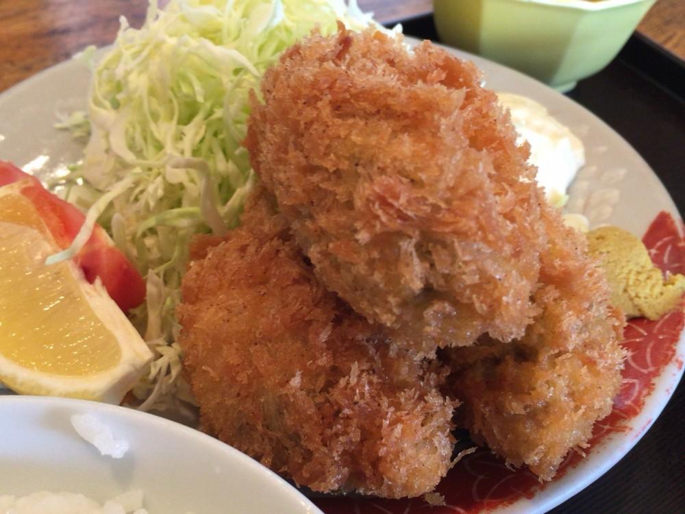【さいたま市西区の定食屋】大きくて安くて美味い、カキフライ定食を食べてきた