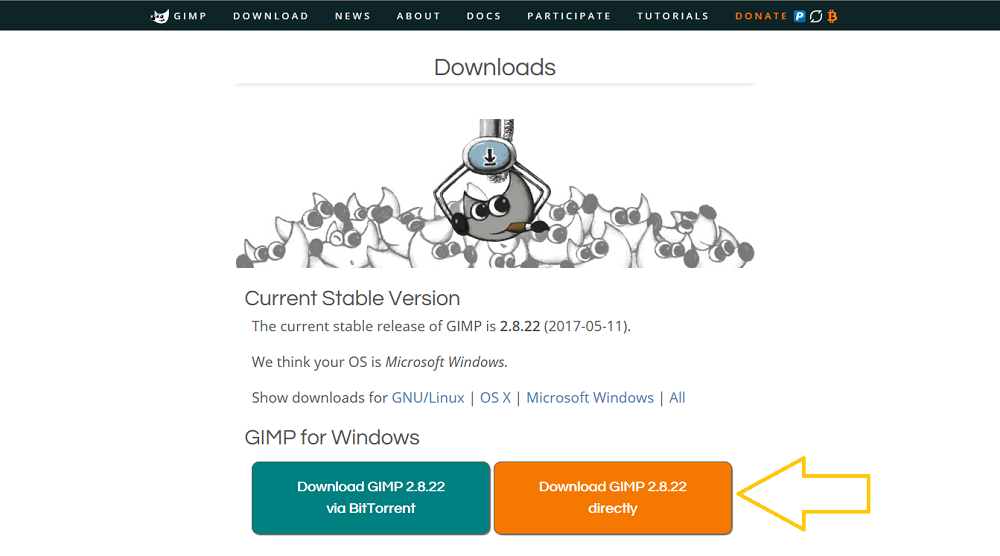 GIMPのダウンロード先と、パソコンにインストールする方法