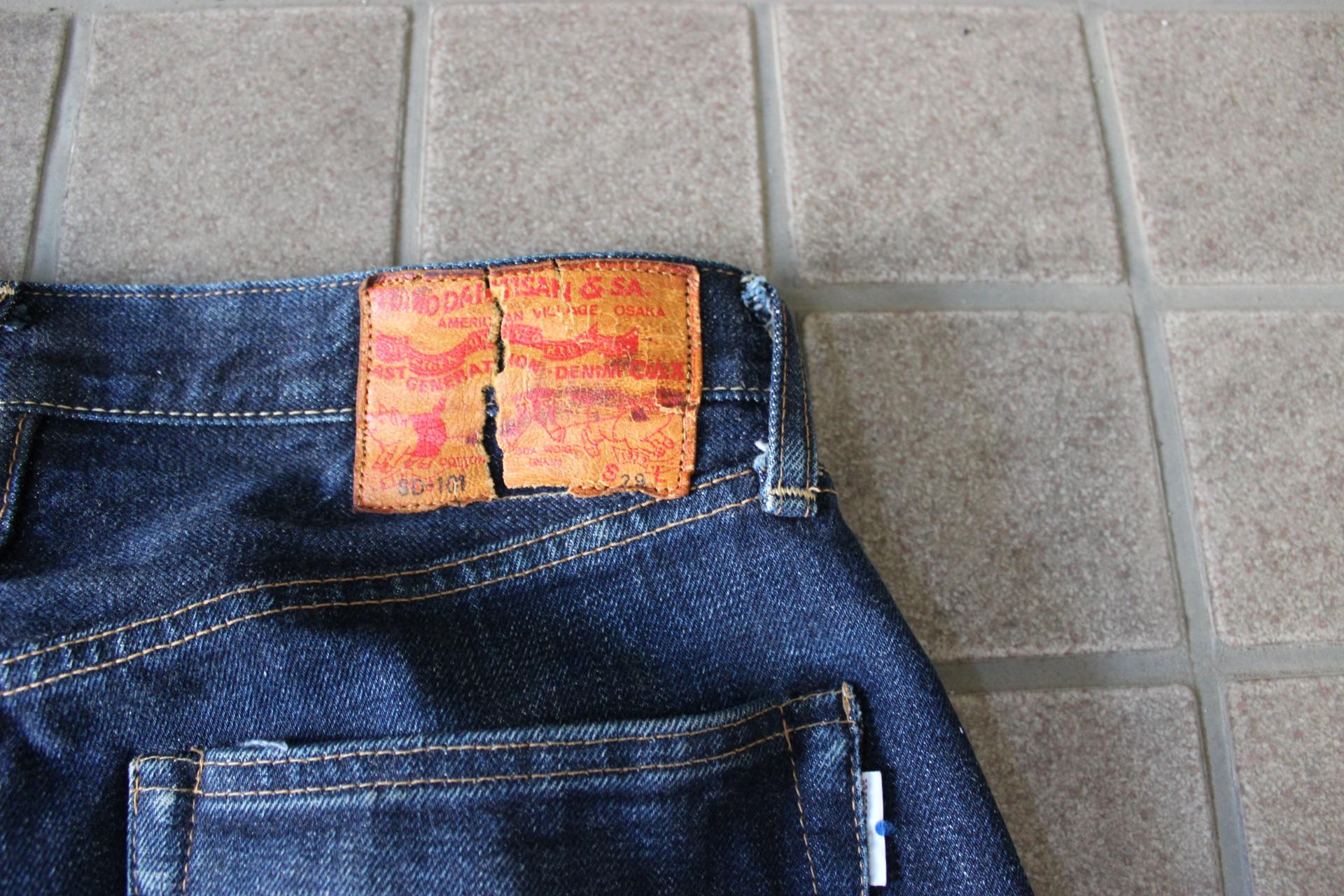 ステュディオ・ダ・ルチザン SD-101 ストレートジーンズの色落ち(STUDIO D'ARTISAN)
