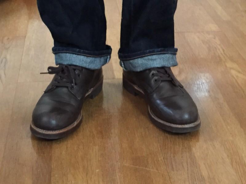 レッドウィング (redwing)フォアマン8050と相性のよいジーンズは?濃紺、色落ち?